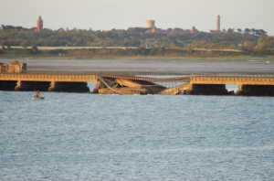 The damage to the bridge will take months to repair