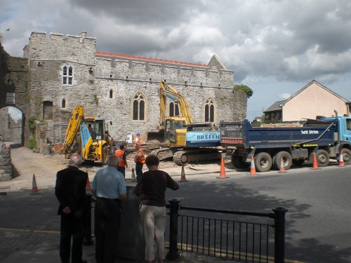 Demolition of Ryan's Pub almost complete, Saturday, 8 August.