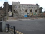 With Ryan's Pub now gone, the castle is clearly visible, Monday 10 August