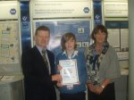Also from Ardgillan Communiy College, Diarmuid O'Connor & teacher Theresa Gannon