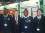From Balbriggan Community College: Tunde Toki, Bola Adeniran & teacher Kevin Curran